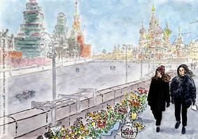 At Nemtsov Bridge by Vokabre