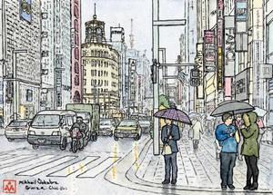 On Chuo-dori in Ginza, Tokyo