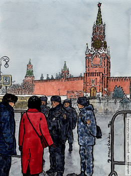 Blocked Red Square