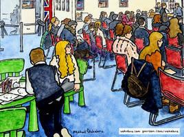 UK visa centre, before rejection