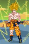 Goku on Namek