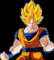 Goku SSJ (Redrawn) by Majin-Ryan