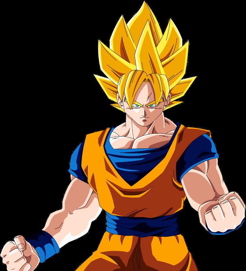 Goku SSJ (Redrawn) by Majin-Ryan on DeviantArt