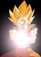Goku - Kamehameha Wave by Majin-Ryan