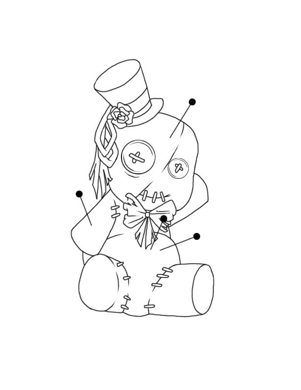 russian doll tattoo. Voodoo Doll Tattoo Design by