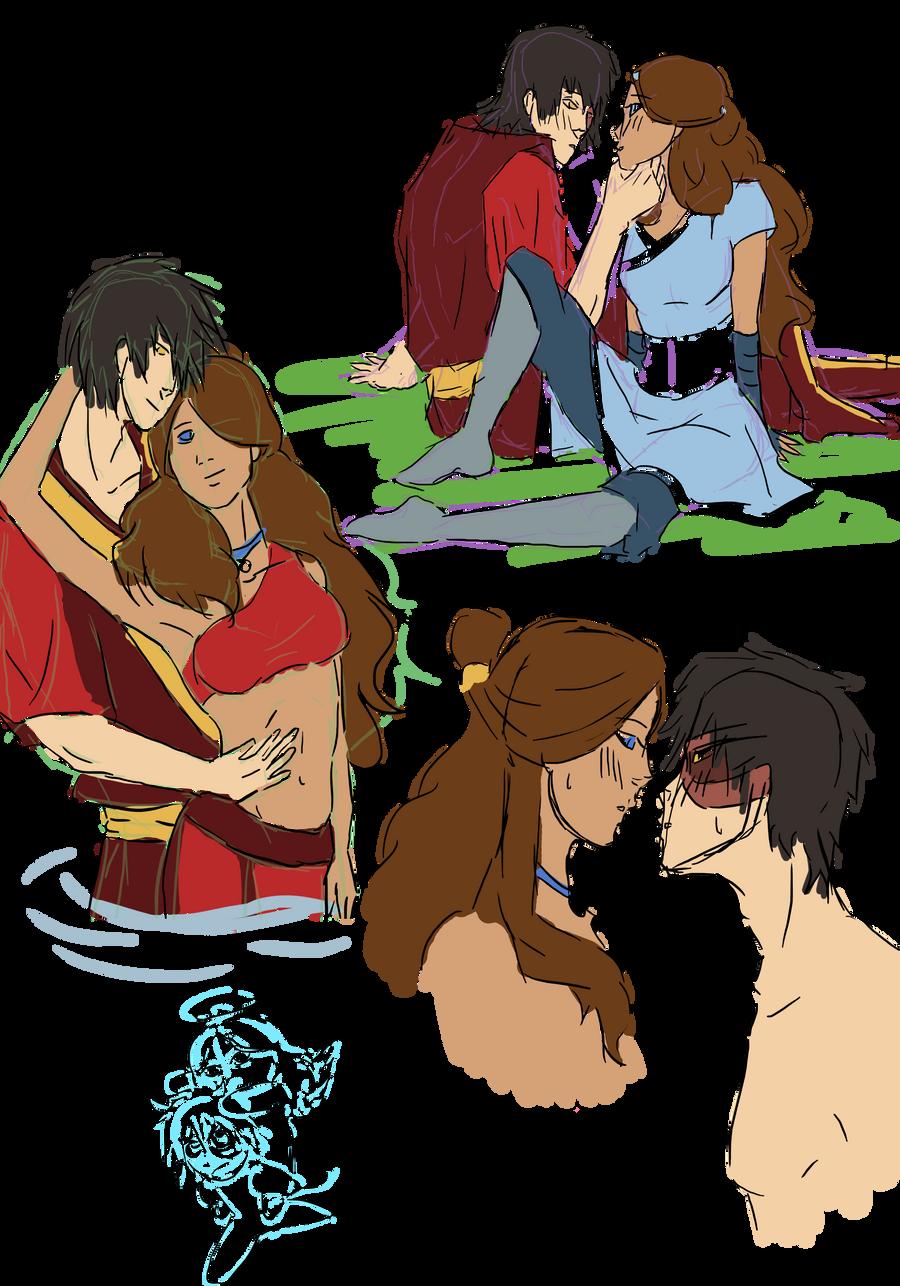 Zutara Doodle Time by happyzuko