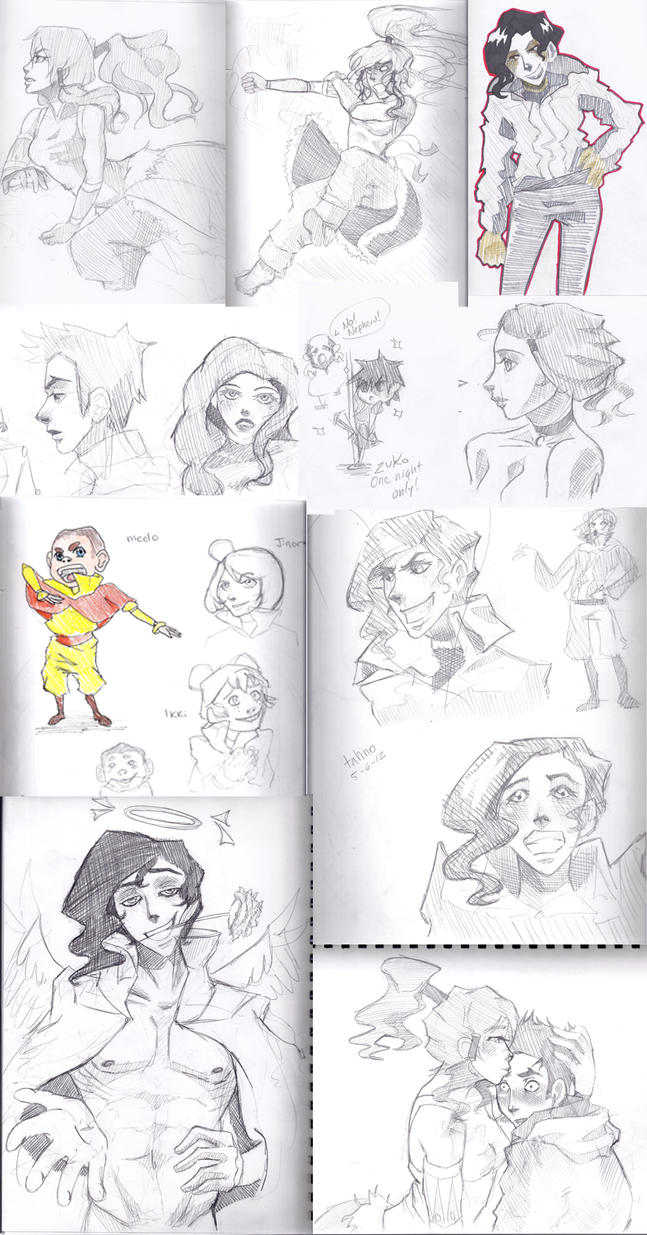 Avatar/Korra Sketchdump by happyzuko