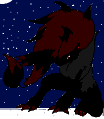 Shadow Zoroark in Winter by shewolfzoroark