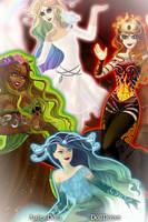 The Four Elements by shewolfzoroark