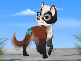 Whitespeckle by shewolfzoroark