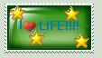I Love Life Stamp by shewolfzoroark