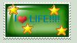 I Love Life Stamp by shewolfzoroark