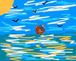 Sea Cat by shewolfzoroark