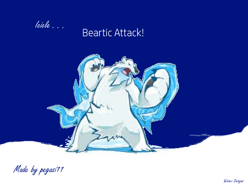 Beartic Attack by shewolfzoroark