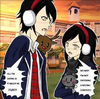 Double Trouble - Jack and Maddi by shewolfzoroark