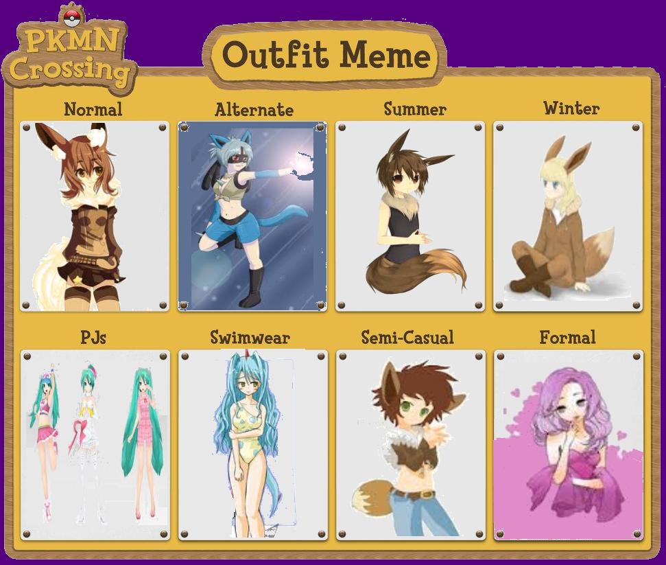 Kitta's Outfit Meme - Eevee by shewolfzoroark