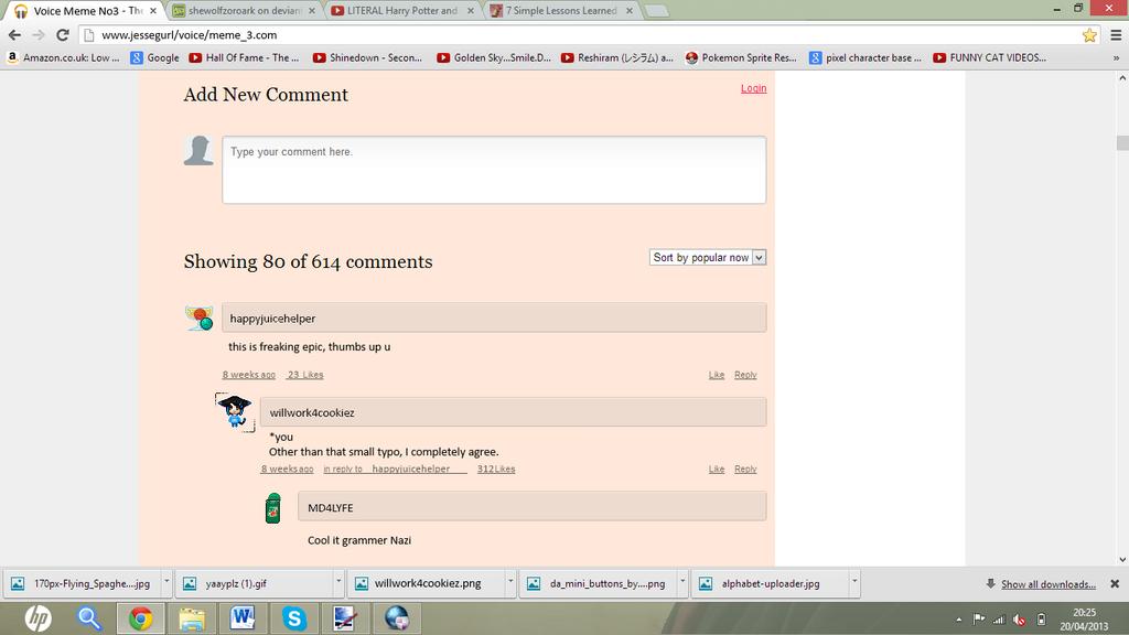 Comments Test by shewolfzoroark