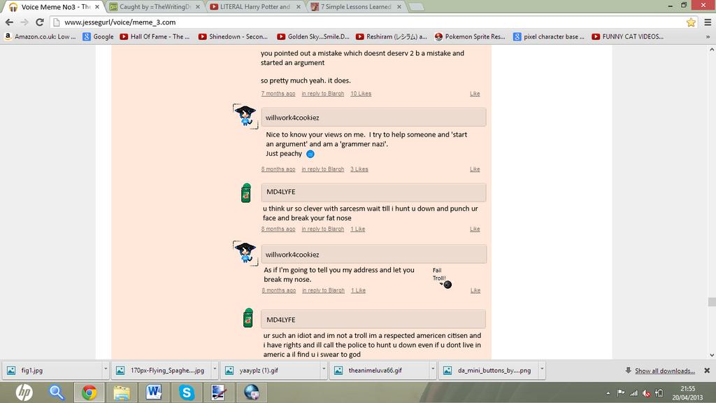 Comment Argument by shewolfzoroark