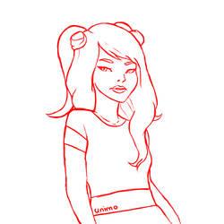 Aropica Sketch by shewolfzoroark