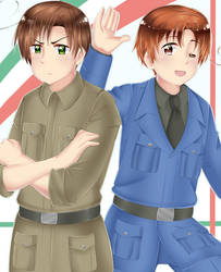 Italy and Romano by MysterionRises6