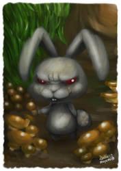 Rabbits and mushrooms