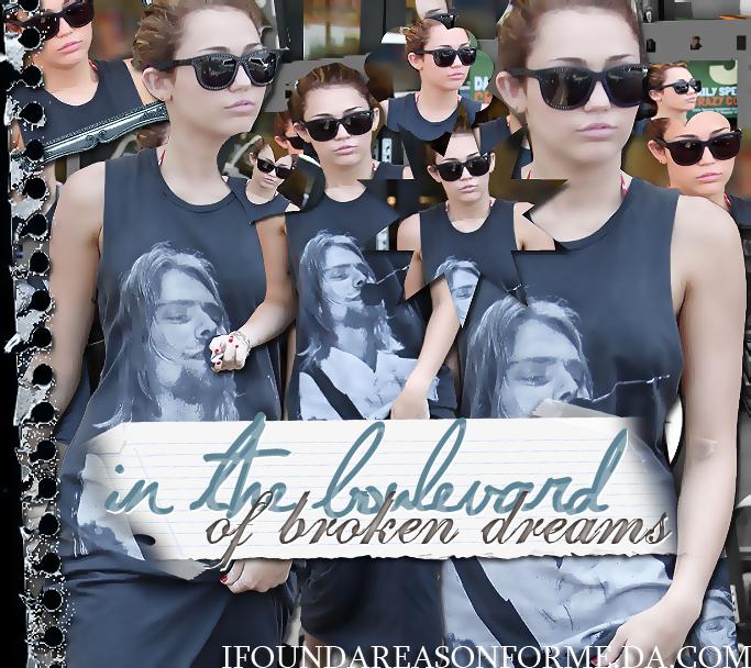 +In the boulevard of broken dreams.