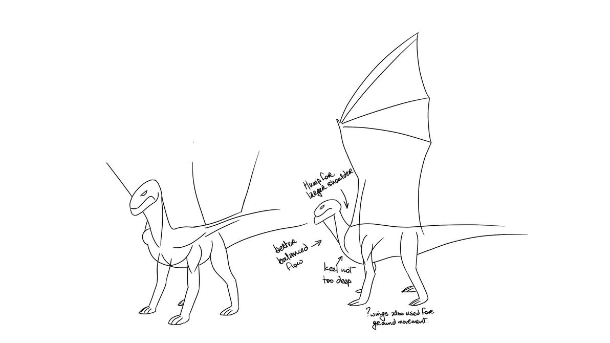 Dragon Study WIP by frazamm