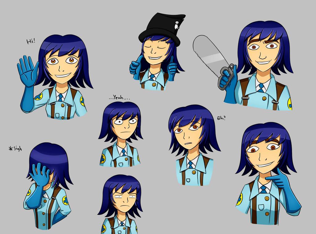 Fem Medic Doodles by KellyNewbie