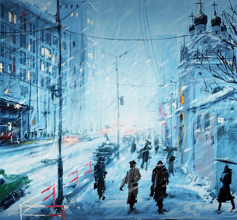 Speedpaint: Moscow Winter