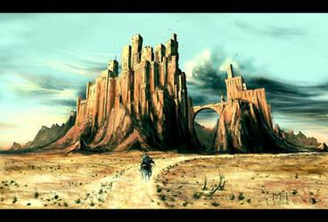Towards the Forsaken Fortress by Prasa