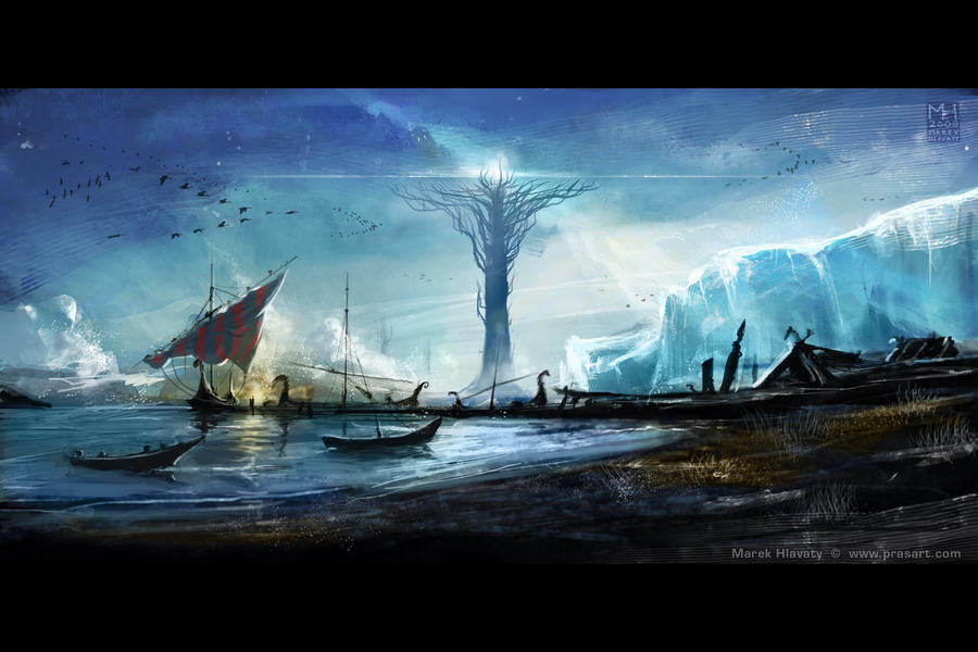 Yggdrasil Art Yggdrasil by Prasa