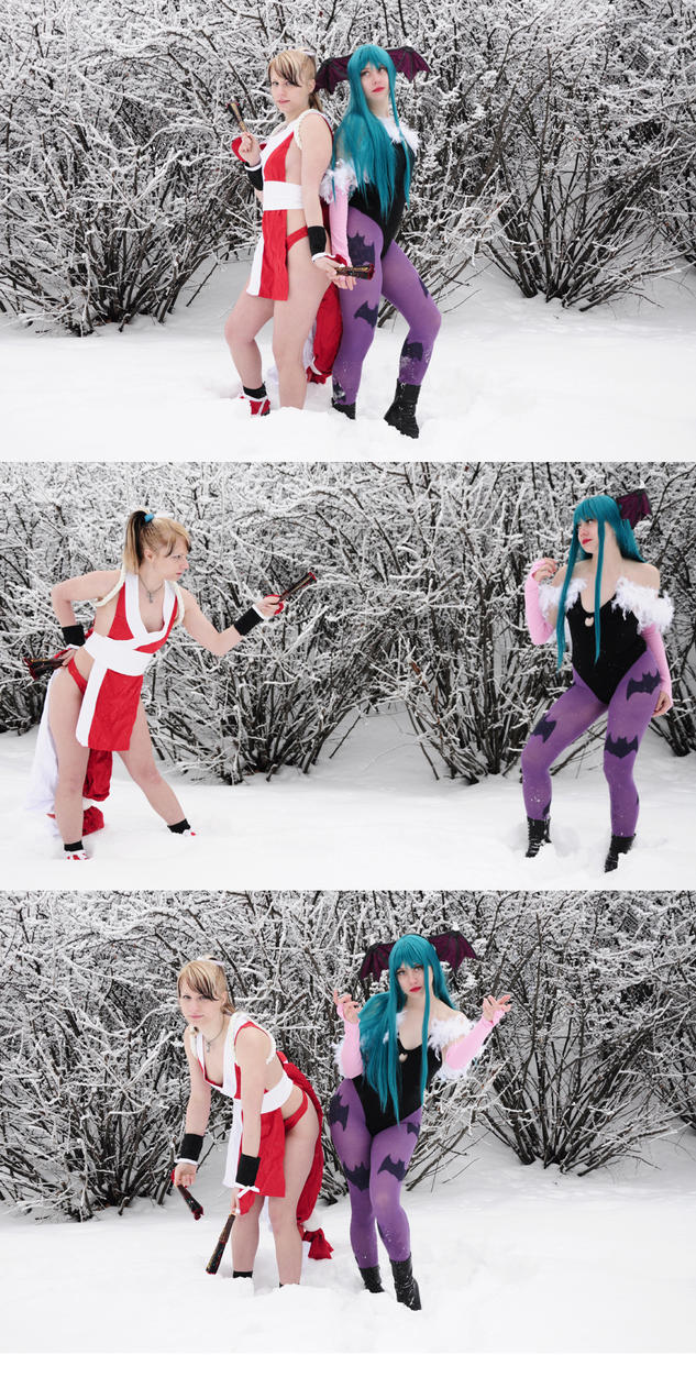 Mai and Morrigan by Pompay