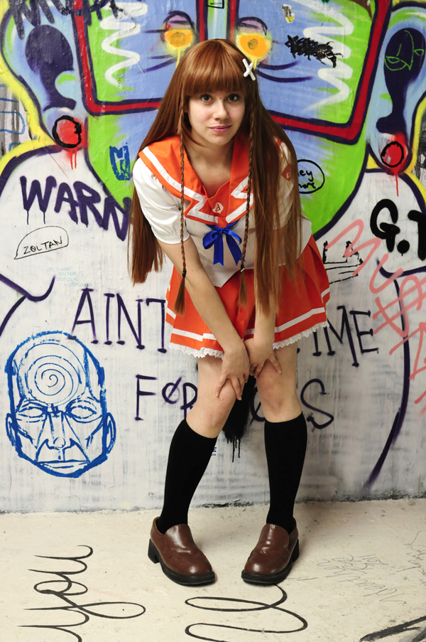 Mirai Suenaga in the grafitti stairs by Pompay