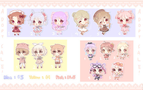 [OPEN] SALE! Adopts Clearance Set Price (5/14)