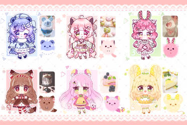 [OPEN] Auction - Fluffy Cuffy Dessert Theme (3/6) by Shika-Adopts