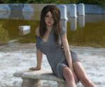 Sara in the old swimming pool