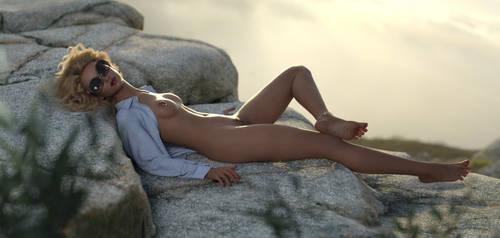 on a rock by ziege58