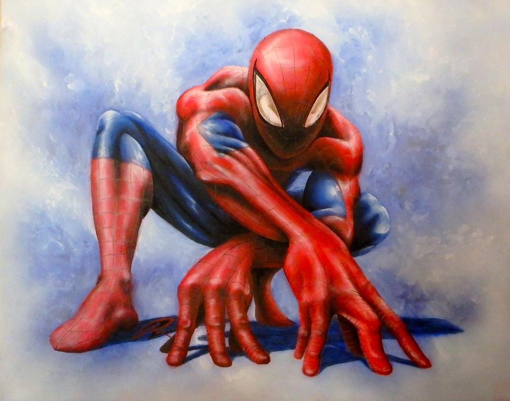 Uncategorized Paint Spiderman spiderman painting by nohawk on deviantart nohawk