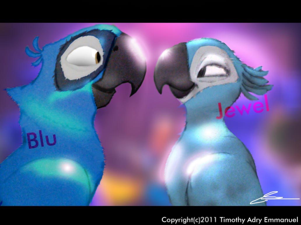 Blu And Jewel Love by Adry53