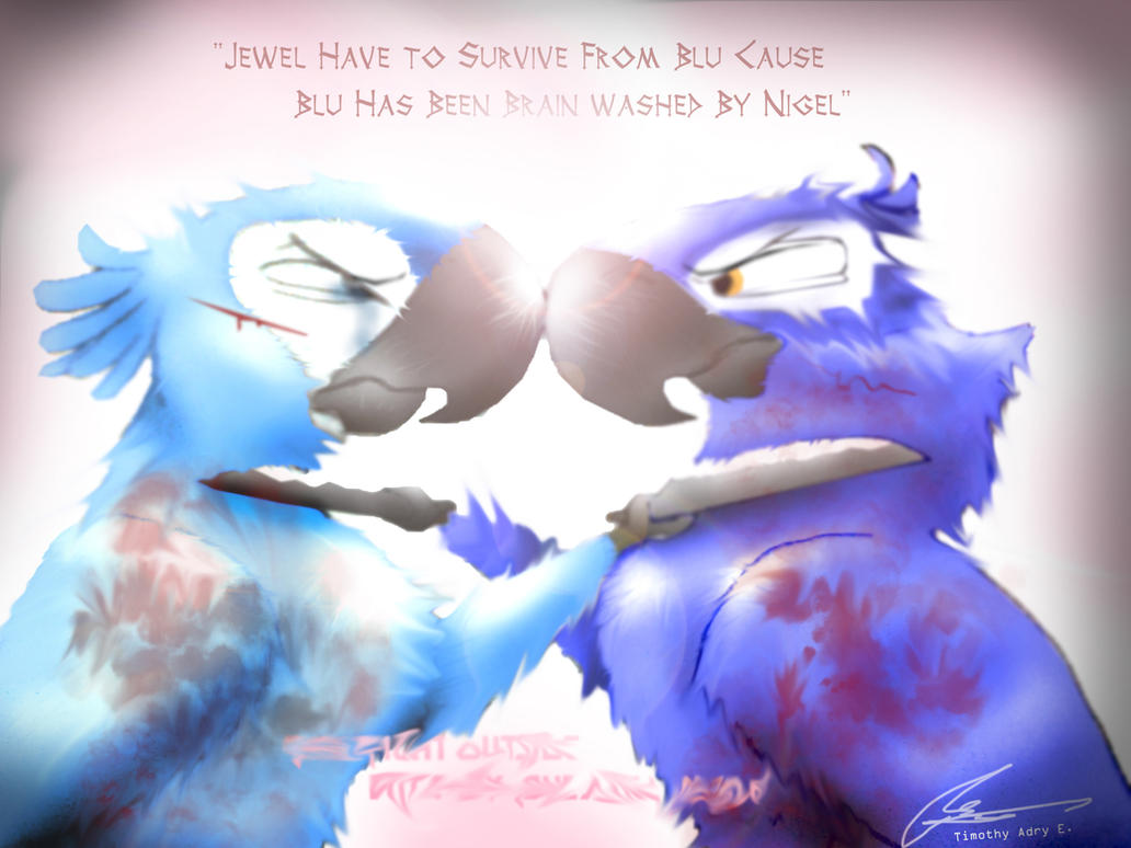 blu vs jewel part 1 by adry53 d3kxg7f - Cartoon RIO Part 1