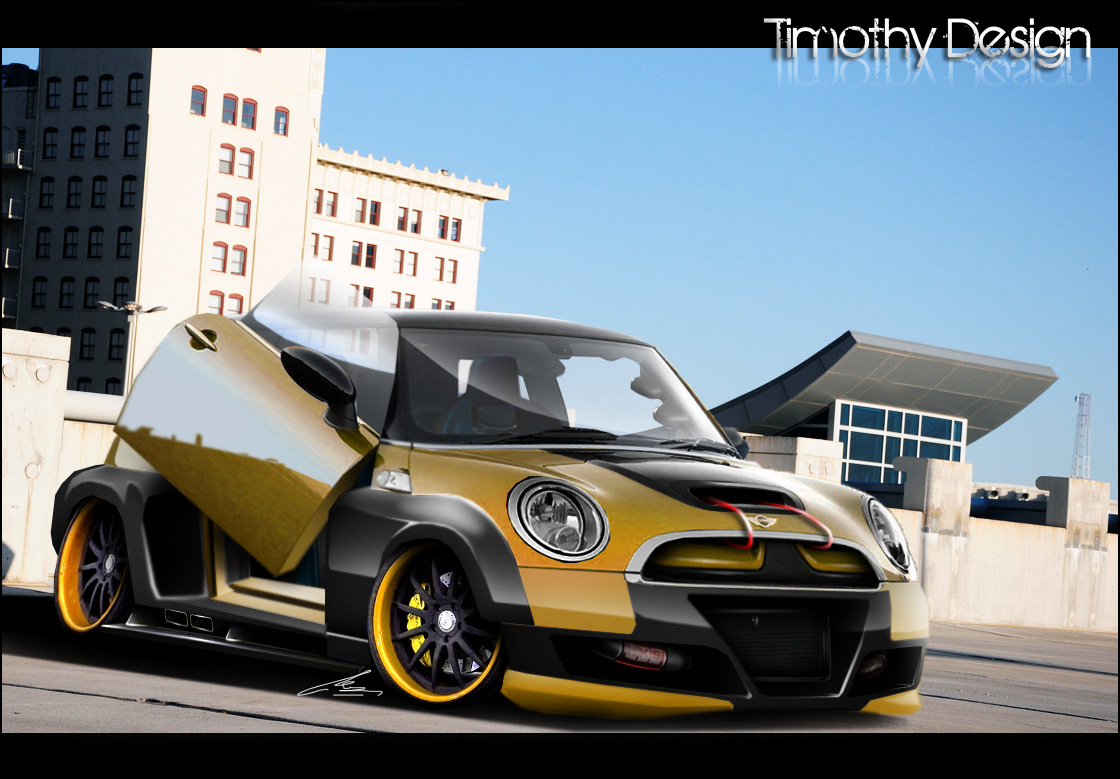 Old Mini Coopers >> Mini Cooper S Wide Body Kit by Adry53 on DeviantArt