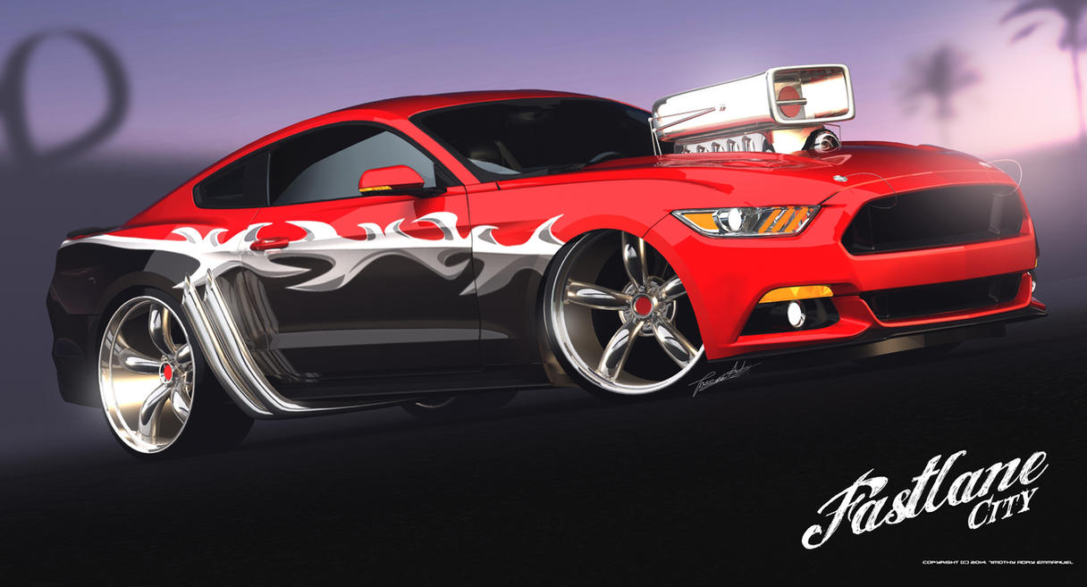 2015 Ford Mustang - RED HAZZARD by Adry53
