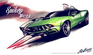 Spikey bull by Adry53