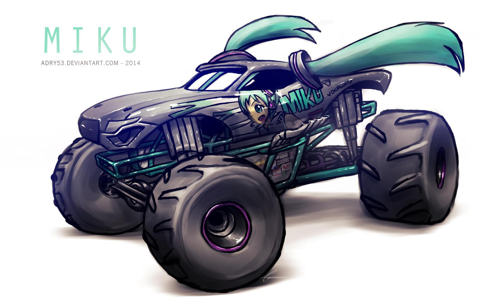 Monster Jam MIKU by Adry53