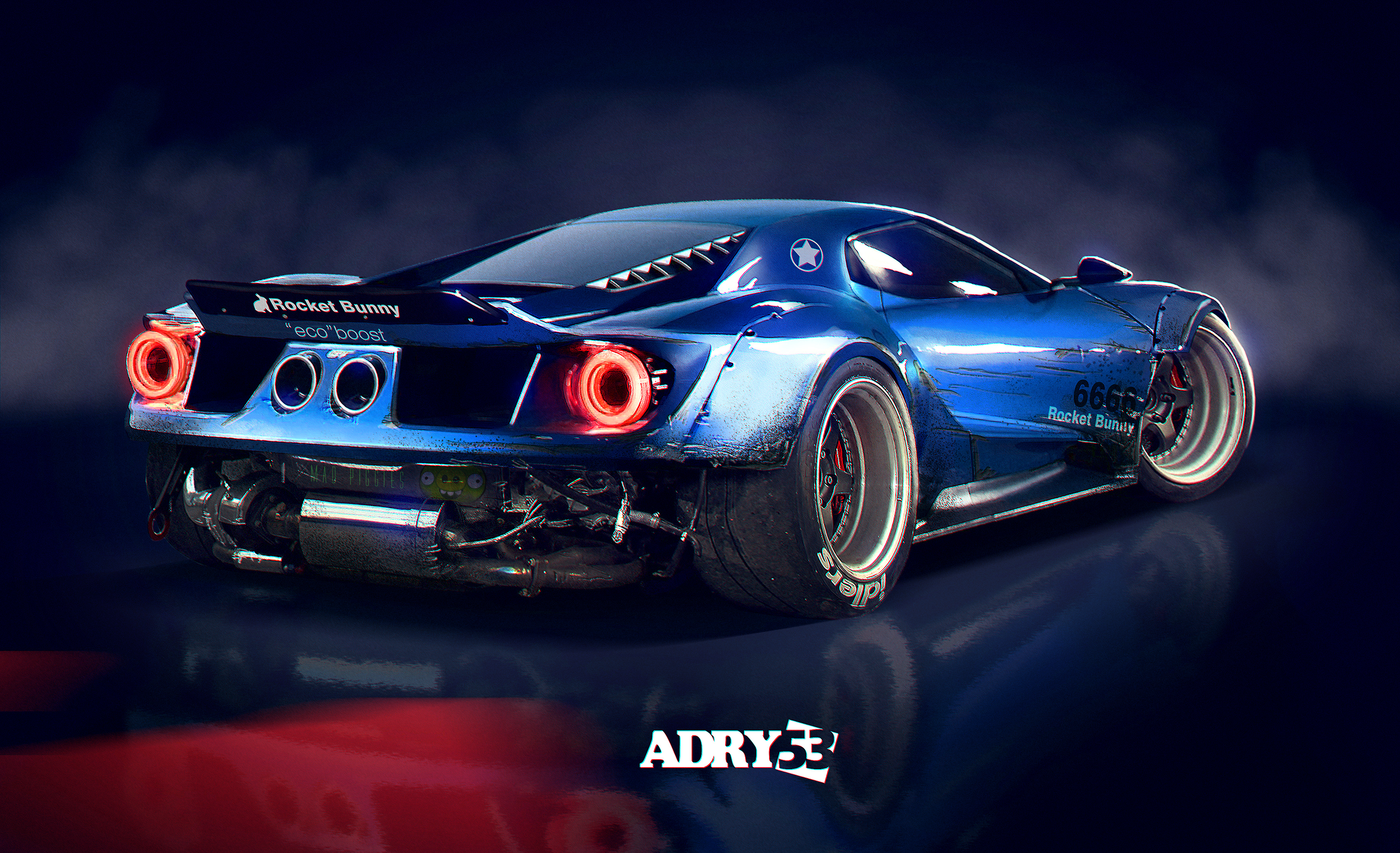 Ford Gt Rocket Bunny By Adry