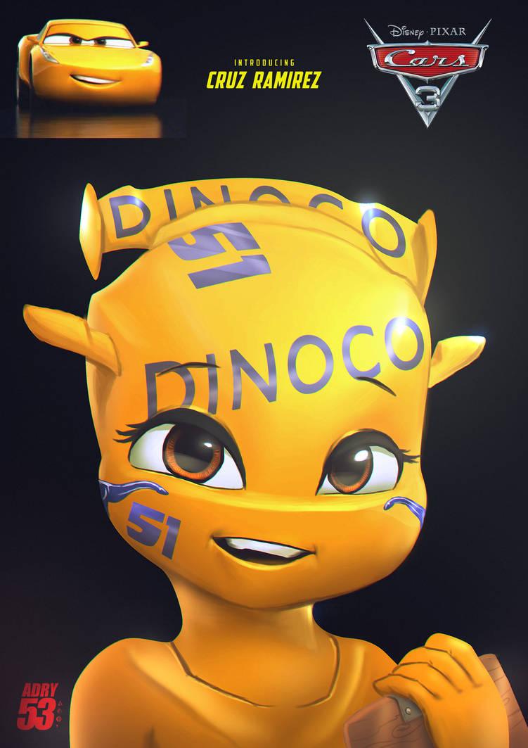Cruz Ramirez Dinoco 51 By Adry53 On Deviantart