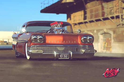 '58 Pontiac Bonneville by Adry53