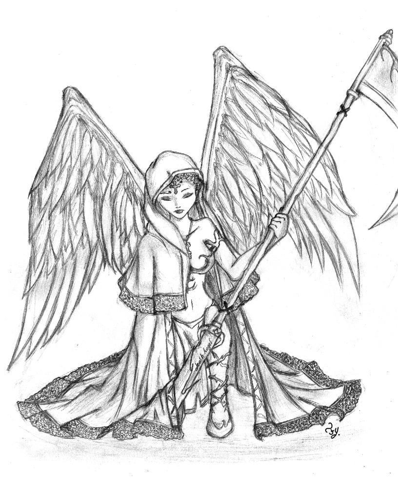 death angel by alieonor on deviantart
