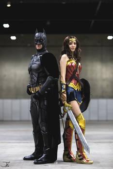 Wonder Woman and Batman Cosplay