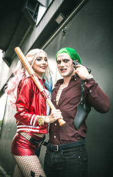 Harely Quinn and Joker Cosplay
